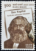 INDIA - CIRCA 1983: stamp printed in India shows Karl Marx, circa 1983 — Foto de Stock