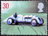 UNITED KINGDOM - CIRCA 1998: A stamp printed in Great Britain shows John G. Parry Thomas's Babs, circa 1998 — Stock Photo