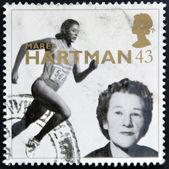 イギリス - 年頃 1996 年: イギリスで印刷スタンプに示しますノートルダム マレア ・ ハートマン (スポーツ管理者)、年頃 1996 年 — ストック写真