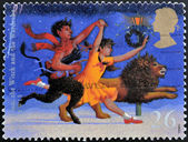 UNITED KINGDOM - CIRCA 1998: A stamp printed in Great Britain shows The Lion, The Witch and the Wardrobe (C.S. Lewis), circa 1988 — Stock Photo