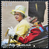UNITED KINGDOM - CIRCA 2005: A stamp printed in Great Britain shows Queen and Duke of Edinburgh in Carriage, circa 2005 — Stock Photo