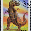 TANZANIA - CIRCA 1994: A stamp printed in Tanzania shows Tyranosaurus, circa 1994 — Stock Photo