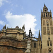 Seville Cathedral and Giralda Tower - Stock Photo