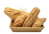Composition du panier avec différents types de pain — Photo