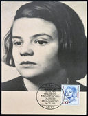 GERMANY - CIRCA 1991: A stamp printed in Germany shows Sophie Scholl, circa 1991 — Stock Photo