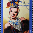 BRAZIL - CIRCA 2009: A stamp printed in Brazil shows Carmen Miranda, circa 2009 — Stock Photo
