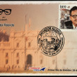 CHILE - CIRCA 2008: A stamp printed in Chile shows Salvador Allende, circa 2008 — Stock Photo #18370601