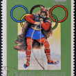 NORTH KOREA - CIRCA 1978: stamp printed in Korea  dedicated to Winter Olympic Games, Sapporo-Innsbruck, shows Medieval Scandinavian hunter, circa 1978 — Stock Photo