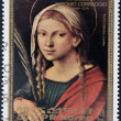 NORTH KOREA - CIRCA 1983: Stamp printed in DPR Korea shows St. Catherine by Antonio Correggio, circa 1983 — Stock Photo