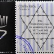 Stock Photo: COSTA RICA - CIRCA 2010: A stamp printed in Costa Rica Celebrating the International Day in Memory of the Victims of the Holocaust, circa 2010