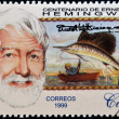 Stock Photo: CUB- CIRC1999: stamp printed in Cubshows Ernest Hemingway, circ1993