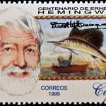 CUBA - CIRCA 1999: A stamp printed in Cuba shows Ernest Hemingway, circa 1993 — Stock Photo