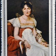 CUBA - CIRCA 1969: Stamp printed in Cuba dedicated to Artworks Napoleon Museum, shows Elisa Bonaparte by Robert Lefevre, circa 1969 — Stock Photo