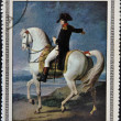 CUBA - CIRCA 1969: Stamp printed in Cuba dedicated to Artworks Napoleon Museum, shows First Consul Napoleon by Regnault, circa 1969 - 图库照片