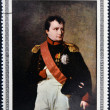 CUBA - CIRCA 1969: Stamp printed in Cuba dedicated to Artworks Napoleon Museum, shows Napoleon Bonaparte by Robert Lefevre, circa 1969 - 图库照片