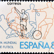 Royalty-Free Stock Photo: SPAIN - CIRCA 1980: Stamp printed in Spain dedicated to Football World Cup in Spain 1982, circa 1980