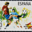 Royalty-Free Stock Photo: SPAIN - CIRCA 1981: Stamp printed in Spain dedicated to Football World Cup in Spain 1982, circa 1981