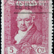 SPAIN - CIRCA 1930: A stamp printed in Spain shows Francisco de Goya y Lucientes, circa 1930 — Stock Photo