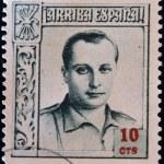 SPAIN - CIRCA 1937: A stamp printed in Spain shows Jose Antonio Primo de Rivera, circa 1937 — Stock Photo