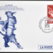 Stock Photo: FRANCE - CIRC1997: stamp printed in France shows Puss in Boots, Perrault tale, circ1997
