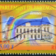 FRANCE - CIRCA 2000: A stamp printed in France shows Parliament of Brittany in Rennes, circa 2000 — Stock Photo