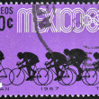 MEXICO - CIRCA 1967: Stamp printed in Mexico shows cyclists, circa 1967 — Stock Photo