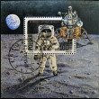 "POLAND - CIRCA 1989: A stamp printed in Poland shows Neil Armstrong, lunar module ""Eagle"" from Apollo 11, circa 1989 — Stock Photo"