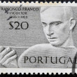Stock Photo: PORTUGAL - CIRCA 1955: Stamp printed in Portugal shows the sculptor Francisco Franco, circa 1955