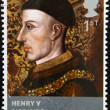 UNITED KINGDOM - CIRCA 2008: stamp printed in Great Britain shows British monarch King Henry V, circa 2008 — Stock Photo #18372553