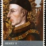 UNITED KINGDOM - CIRCA 2008: stamp printed in Great Britain shows British monarch King Henry V, circa 2008 — Stock Photo #18372553