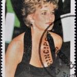 SAO TOME AND PRINCIPE - CIRCA 1997: A stamp printed in Sao Tome shows Diana Princess of Wales, circa 1997 — Stock Photo