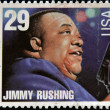 UNITED STATES OF AMERICA - CIRCA 1994: stamp printed in USA shows blues singer Jimmy Rushing, circa 1994 - Stock Photo