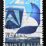 AUSTRALIA - CIRCA 1981: A stamp printed in Australia shows ocean racer, circa 1981 — Stock Photo