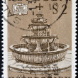 AUSTRIA - CIRCA 1972: a stamp printed in the Austria shows fountain, circa 1972 — Stock Photo