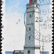 Foto Stock: DENMARK - CIRC1996: stamp printed in Denmark shows Blavandshur Lighthouse, circ1996