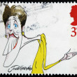 Stock Photo: UNITED KINGDOM - CIRC1998: stamp printed in Great Britain dedicated to comedians, shows Joyce Grenfell, circ1998