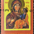 SOUTH AFRICA - CIRCA 2004: A stamp printed in South Africa shows Virgin Mary and Baby Jesus, circa 2004 - 图库照片