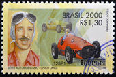 BRAZIL - CIRCA 2000: A stamp printed in Brazil dedicated to motor shows Chico Landi, circa 2000 — Stock Photo