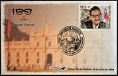 CHILE - CIRCA 2008: A stamp printed in Chile shows Salvador Allende, circa 2008 — Stock Photo