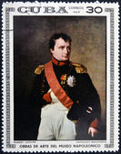 CUBA - CIRCA 1969: Stamp printed in Cuba dedicated to Artworks Napoleon Museum, shows Napoleon Bonaparte by Robert Lefevre, circa 1969 — Stock Photo