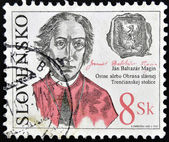 Eslovaquia - circa 2003: un sello impreso en eslovaquia muestra jan baltazar magin, circa 2003 — Foto de Stock