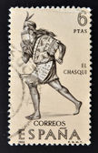 SPAIN - CIRCA 1966: A stamp printed in Spain shows The chasqui, mail the Incas, circa 1966 — Stockfoto