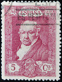 SPAIN - CIRCA 1930: A stamp printed in Spain shows Francisco de Goya y Lucientes, circa 1930 — Foto Stock