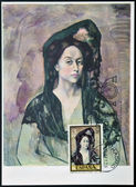 SPAIN - CIRCA 1978: stamp printed in Spain shows Portrait of Lady Canals by Pablo Picasso, circa 1978 — Stock Photo