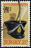 JERSEY - CIRCA 1972: Stamp printed in Jersey dedicated to Royal Jersey Militia, circa 1972 — Stok fotoğraf