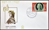 Monaco - ca. 1965: eine briefmarke gedruckt in monaco zeigt dante alighieri, ca. 1965 — Stockfoto