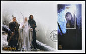NEW ZEALAND - CIRCA 2003: stamp printed in New Zealand shows Scenes from The Lord of the Rings, circa 2003 — Foto de Stock