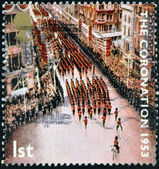 UNITED KINGDOM - CIRCA 2003: Stamp printed in Great Britain celebrating the 50th Anniversary of the Coronation in 1953 of Queen Elizabeth 2nd, circa 2003 — Stock Photo