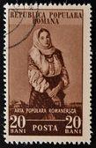 ROMANIA - CIRCA 1953: stamp printed in Romania shows woman, circa 1953 — Stock Photo