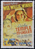 SAO TOME AND PRINCIPE - CIRCA 1995: A stamp printed in Sao Tome shows movie poster Wee Willie Winkie, circa 1995 — Stock Photo